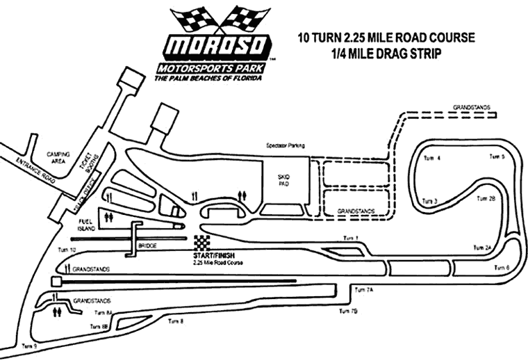 Palm Beach International Raceway map
